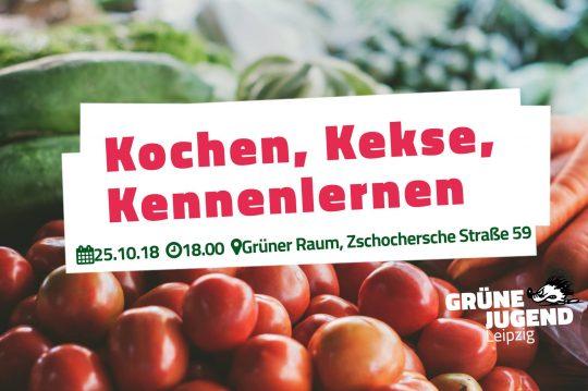 Koche, Kekse, Kennenlernen - Triff die Grüne Jugend Leipzig @ Grüner Raum am Kanal | Leipzig | Sachsen | Deutschland